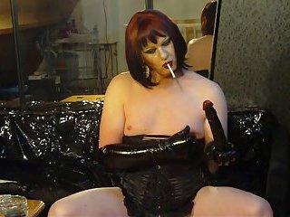 smoking fetish nipple play part 2