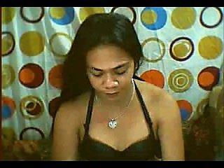 sweet filipina ts zyrene strokes cock