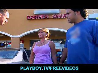 Busty amateur redhead is picked up at the mall
