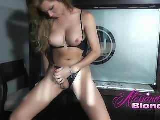 Alessandra Blondes black bikini