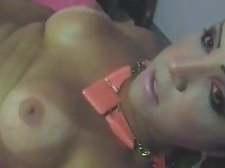 Busty Tgirl Sucks Dick & Strokes Her Cock