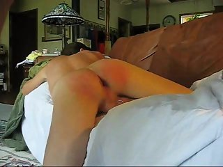 Shemale Femboy Tommy sex slave fucked hard after a spanking.
