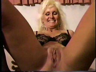 Black friend pounds and creampie a blonde mature slut