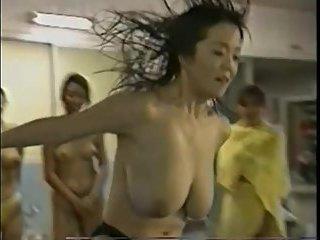 Bouncing Big Tits on Japanese TV