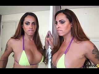 Sexy Brazilian tranny Raquel Souza with thirsty ass