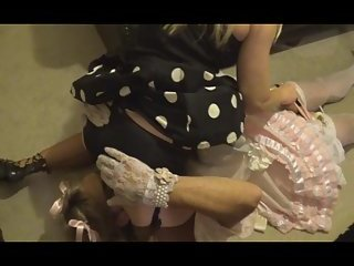 Sissy Satin maid spanked & cum by madame-c