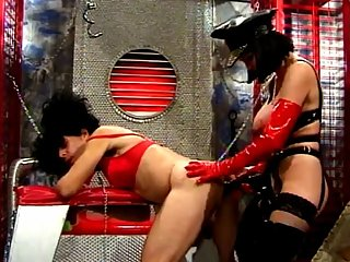 Sissy gets spanked & strapon