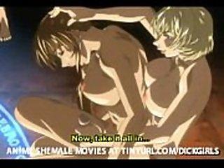 Demonic anime shemale animation