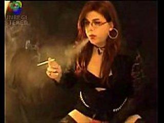 Smoking Shemale t-girl Michelle Love smoking t-girl smoking fetish - 5