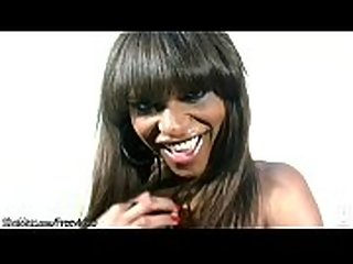 Sultry ebony t-babe enjoys striptease and shemeat jerking