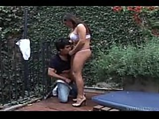 latina shemale get her cocked sucked then fuck guy bareback