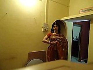 Sangeeta Desi Crossdresser Showing Boobs